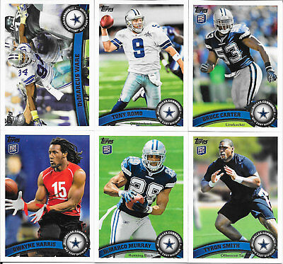 2011 Topps Football Dallas Cowboys Complete Team Set (15 cards including 4 RCs)