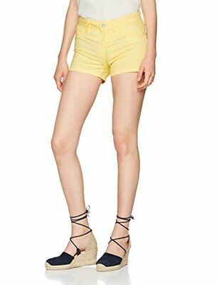 ONLY Onllucia Reg Skinny Push Up Shorts Pnt, Pantaloncini Donna, Giallo (Pale Ba