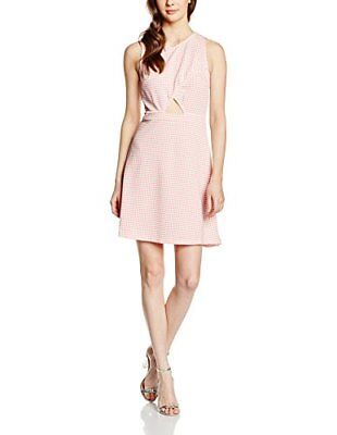 Vero Moda Ubana, Vestito Donna, Pink (Salmon Rose), Medium