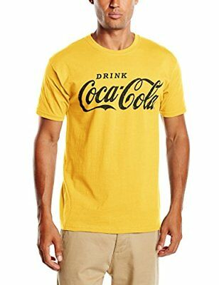 Coca Cola Drink Coca Cola Black-T-shirt  Uomo    Giallo (Daisy) Medium