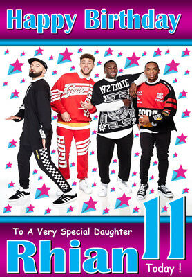 Rak-Su Personalised Birthday Card 3 ANY NAME / AGE / RELATION A5 SIZE! GREAT!