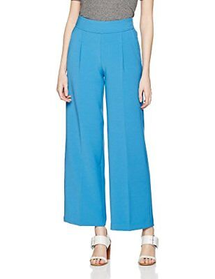 United Colors of Benetton Wide Leg Trouser With Placket, Pantaloni Donna, Blu (B