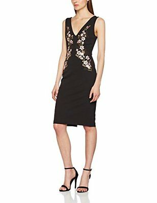 New Look Embroidered, Prom Dress Donna, Black, 36
