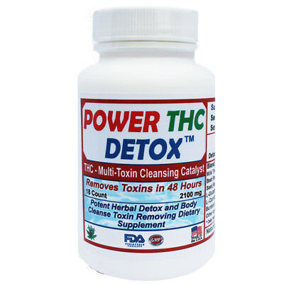 THC - Multi Toxin Detox - Rapid 48 Hours to Cleanse Formula - 18 Count Bottle