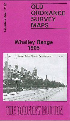 Old Ordnance Survey Map Whalley Range 1905