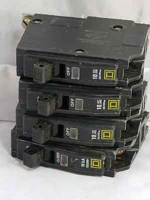 Square D  Q0B Lot of 4 Single Pole Slim Circuit Breakers (1) 30A (3) 15A