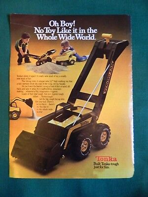 Vintage Toy Ad Tonka The Strong Arm 1979