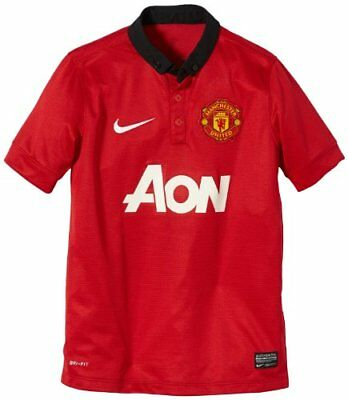 NIKE manchester united home replica maillot S Rouge - Diablo Red/Black/Football
