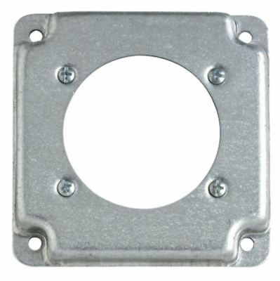 """Steel City RS14 Surface Box Cover for Single Receptacle Power Outlet, 4"""" Square"""