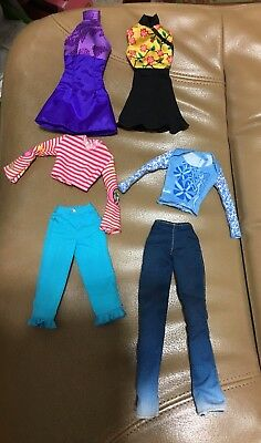 Mattel Barbie GENUINE/FASHION AVE Tagged Doll Clothes Lot x6  Excellent Cond