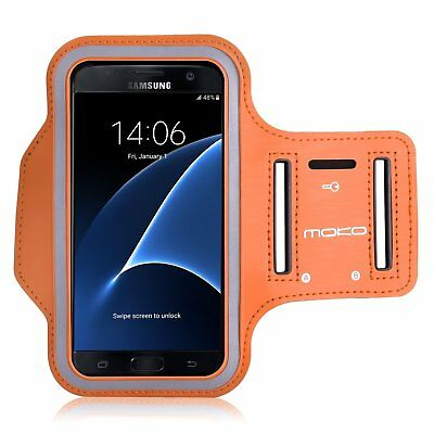 Sports Workout Armband MoKo Water Resistant Case for Many Phones/Orange Lot of3