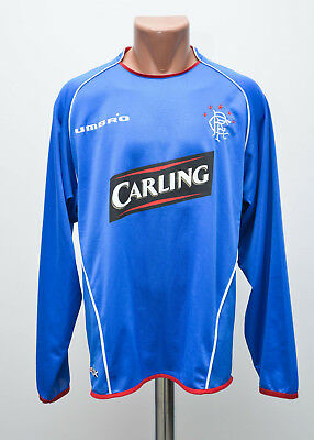 Glasgow Rangers Scotland 2005/2006 Home Football Shirt Jersey Umbro Long Sleeve