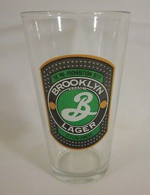 Brooklyn Lager The Pre-Prohibition Beer 12 oz Pint Glass Pub Brewery Brand