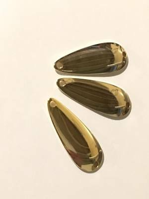 """100 - Worth #93345 1 3/4"""" Gold Plated Brass Casting Spoons .045 Thick"""