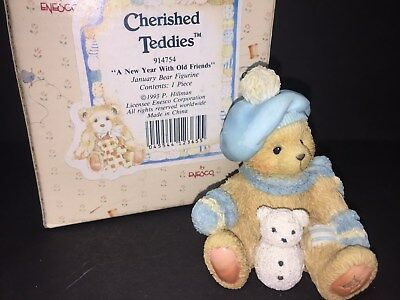 914754 Jack January Bear A New Year With Old Friends FREE SHIP CHERISHED TEDDIES