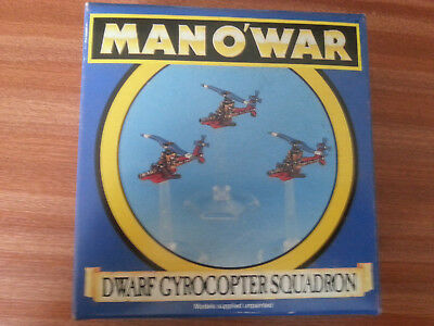 Dwarf Gyrocopter Squadron Boxed *** Man O' War *** Specialist Games - FREE P&P