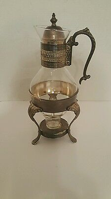 """Silver Plated Vintage Carafe Coffee Tea Pitcher/ Base for Candle.14""""H × 3  1/2"""