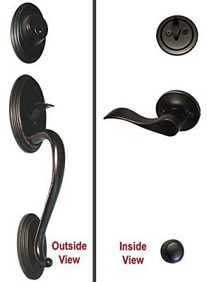 Dark Oil Rubbed Bronze Lock Door Lever Handle Entry / Privacy / Passage / Dummy