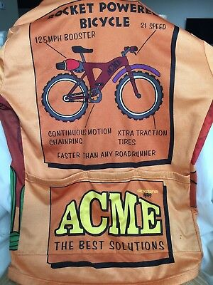 Giordana Design Acme Bicycle Jersey Wile E Coyote RoadRunner