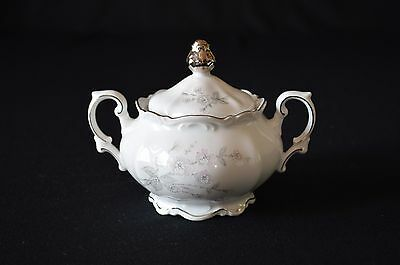 Mitterteich Bavaria Germany China Pattern Fragrance Covered Sugar Bowl