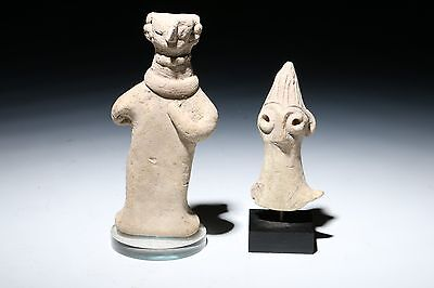 Ancient Syro Hittite Figurines Two 1500 B.c. Antiquities