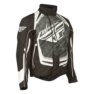 Men's Fly Racing SNX Pro Jacket Black and White X-Large WPS 470-2180X