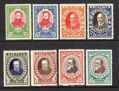 1933 Lithuania SC 272-277B - Complete Set of 8 - MH Mint*
