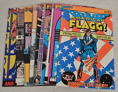 American Flagg Comic Books 10 Lot 1 2 3 4 5 6 7 8 9 10 VF NM Howard Chaykin
