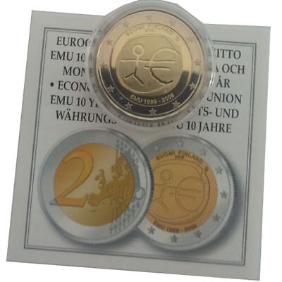 "2009 Spain 2 Euro Uncirculated Coin /""EU Economic /& Monetary Union EMU 10 Years/"""
