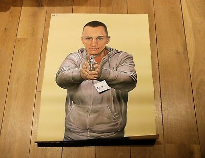 Original Vintage gun target shooting poster for law enforcement