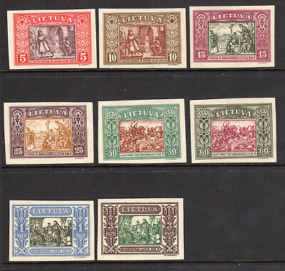 1932 Lithuania SC 264a-271a | MI 332-339 Imperf Set of 8 - Interface Child*