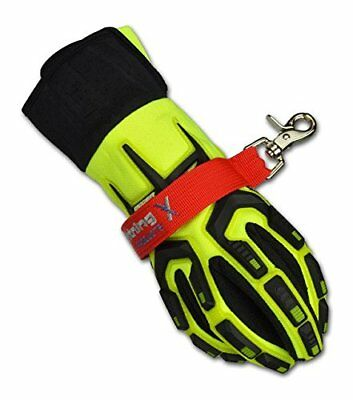 Lightning X Firemans Deluxe Firefighter Turnout Gear Glove Strap for First Red