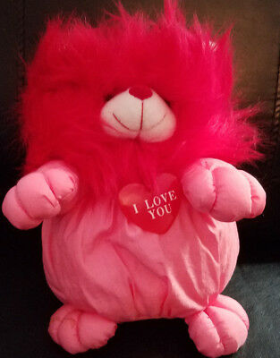 """Lemonwood Asia Red and Pink Lion w/I Love You Tag plush - 10"""""""