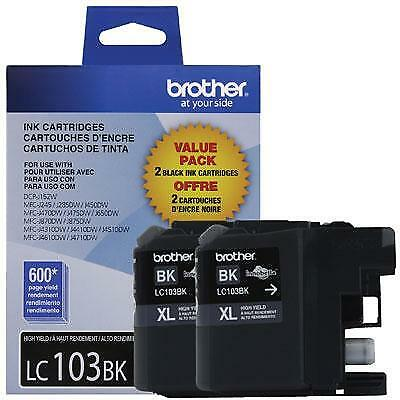 Brother Innobella LC1032PKS 2-Pack 600 Page High-Yield Black Ink Cartridge