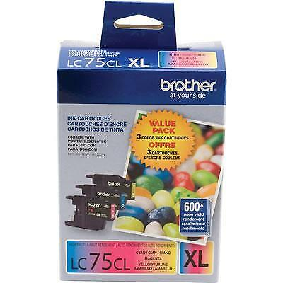 Brother LC753PKS 3-Pack Innobella High-Yield XL C/M/Y Color Ink Cartridge