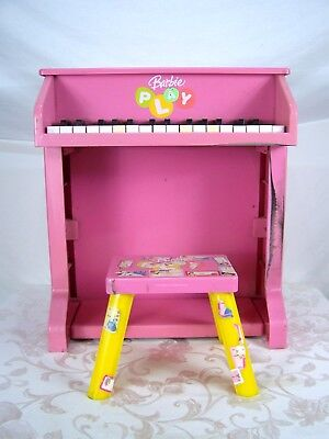 CHILDS PIANO KID SIZE Barbie B-Musical Upright Piano
