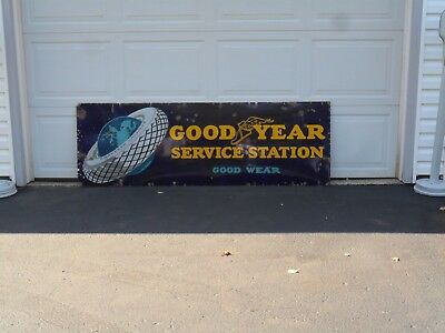 Vintage Goodyear Sign with Green Earth