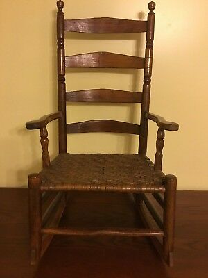 """Extraordinary And Early Rocking Chair / Rocker With Pegged Construction 39"""" High"""