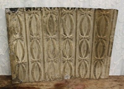 "Antique Salvaged Shabby Chic Tin Ceiling Tile 25 1/4"" X 18 3/4"""