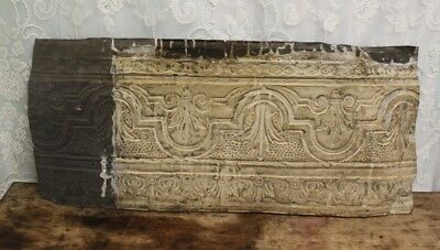 "Antique Salvaged Shabby Chic Tin Ceiling Tile 33"" X 14 3/4"""