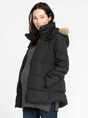 Old Navy Black Maternity Hooded Frost-Free Jacket XXL NWT