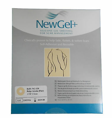 NewGel+ Silicone Gel Sheeting 2 7/8 Areola Circles For Scars Beige