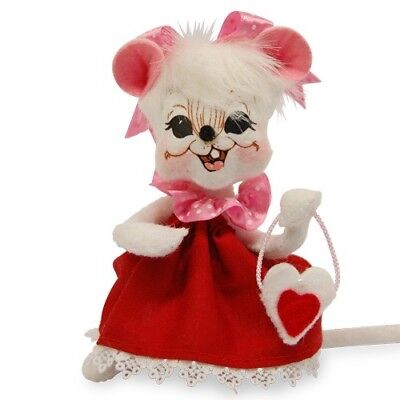 """ANNALEE ~ 2016 ~ Valentines ~ 6"""" ~ """"Sweetheart Girl Mouse"""" ~ #100116 ~ NWT"""