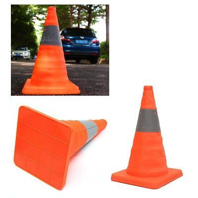 Fold Traffic Road Cone Telescopic Reflective Tape Warning Sign Safety Witches FW