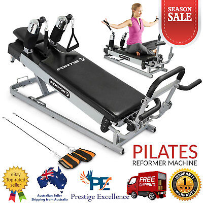 New Fortis Pilates Reformer Gym Machine Home Fitness Workout Exercise Equipment