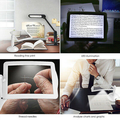 Convenient Table Lamp Reading Magnifier School Home White 3X Durable