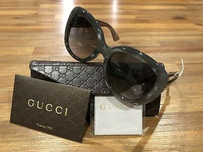 250425a7320 ✅ NEW AUTHENTIC Gucci GG0083S 001 Red Black Gradient Lenses 55MM ...