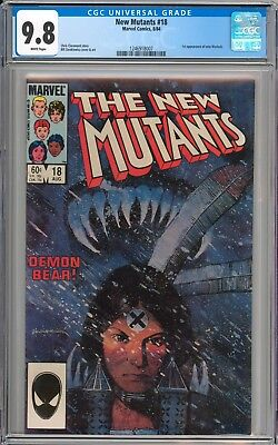 The New Mutants #18 CGC 9.8 NM/MT 1st Appearance of Warlock WHITE Pages New Case