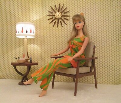 mid century modern style Chair furniture for your Vintage Barbie doll house a