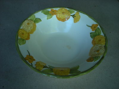 Sculptured Zinnia Metlox Soup/Salad Bowl Poppy Trail California Pottery